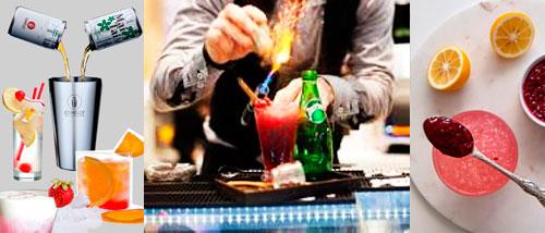 preparación de un cocktail