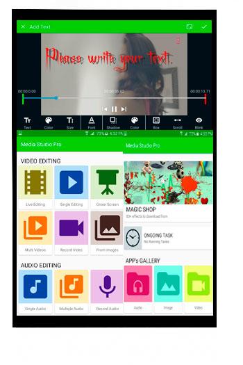 Aplicación Media Studio