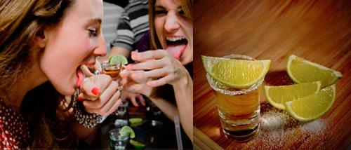 Perfect serve del tequila