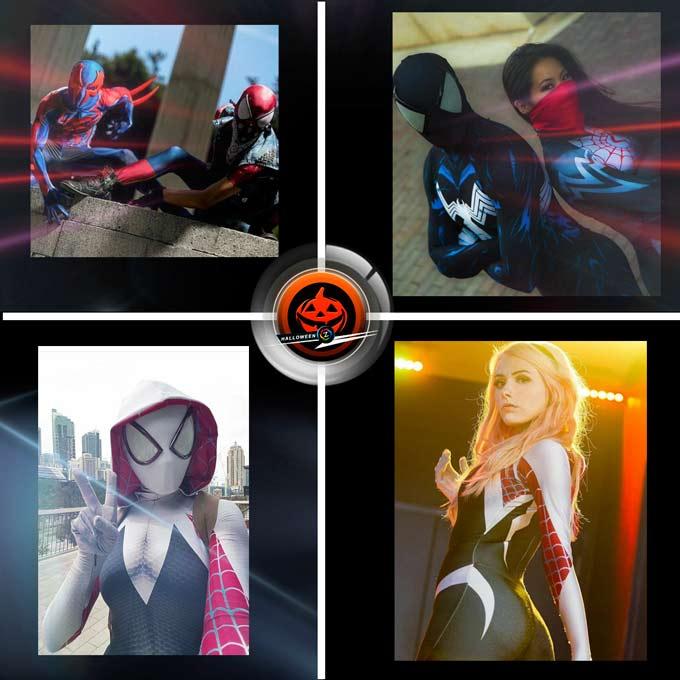 Spiderman estilos en disfraces