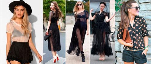 las Transparencias la moda femenina