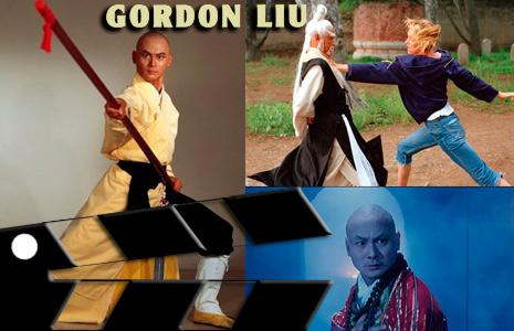 Gordon Liu actor de cintas de monjes shaolin (Pelea)