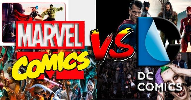 Cuál es mejor Marvel o DC cómics
