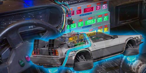 máquina para viajar al futuro del doc Brown